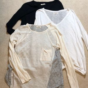 Madewell Lot of 3 long sleeve tops size M-L